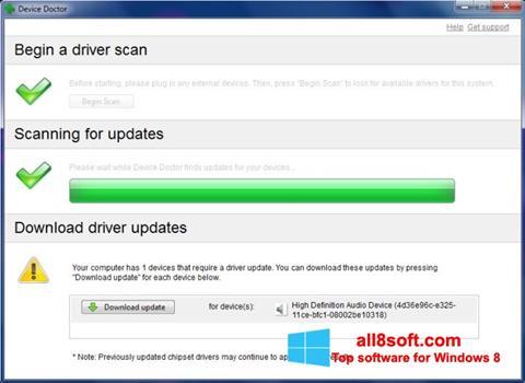 Снимка на екрана Device Doctor за Windows 8