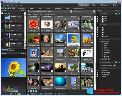 Снимка на екрана ACDSee за Windows 8