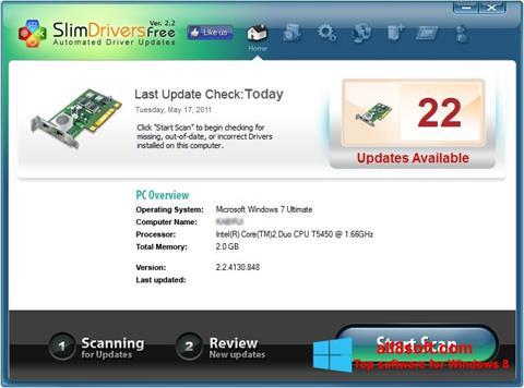 Снимка на екрана SlimDrivers за Windows 8