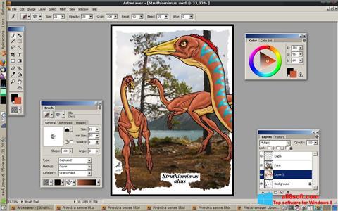 Снимка на екрана Artweaver за Windows 8