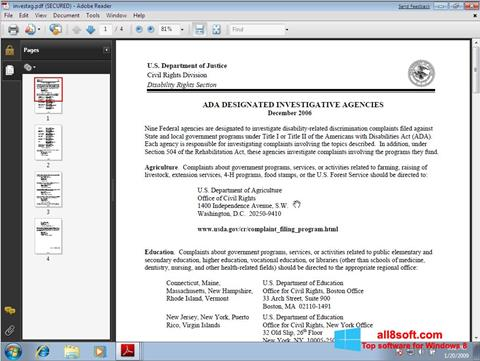 Снимка на екрана Adobe Reader за Windows 8