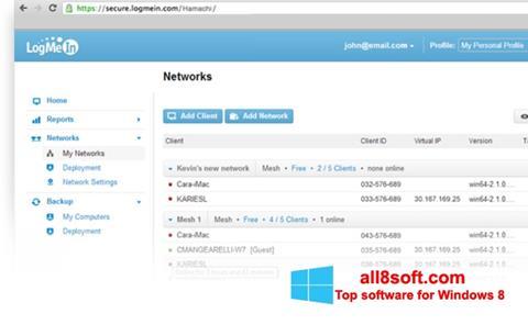 Снимка на екрана Hamachi за Windows 8