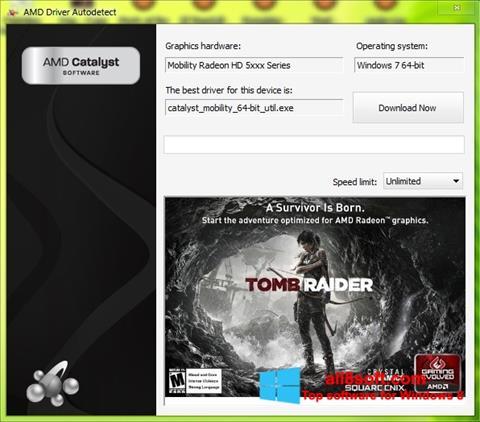 Снимка на екрана AMD Driver Autodetect за Windows 8