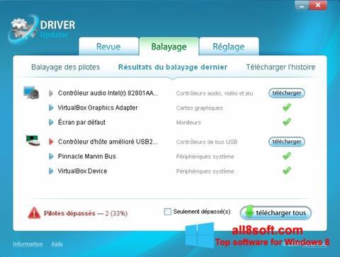 Снимка на екрана Carambis Driver Updater за Windows 8