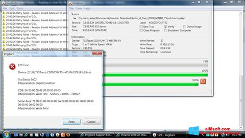 Снимка на екрана ImgBurn за Windows 8