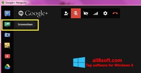 Снимка на екрана Hangouts за Windows 8