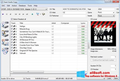 Снимка на екрана Exact Audio Copy за Windows 8