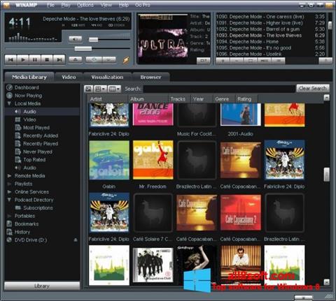Снимка на екрана Winamp за Windows 8