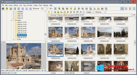 Снимка на екрана FastStone Image Viewer за Windows 8