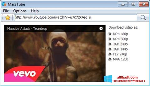 Снимка на екрана MassTube за Windows 8