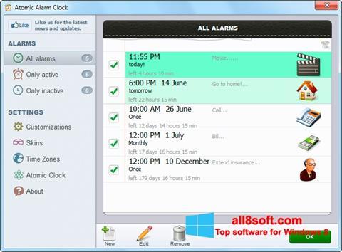 Снимка на екрана Atomic Alarm Clock за Windows 8