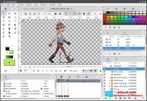 Снимка на екрана Synfig Studio за Windows 8