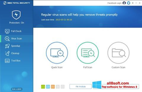 Снимка на екрана 360 Total Security за Windows 8