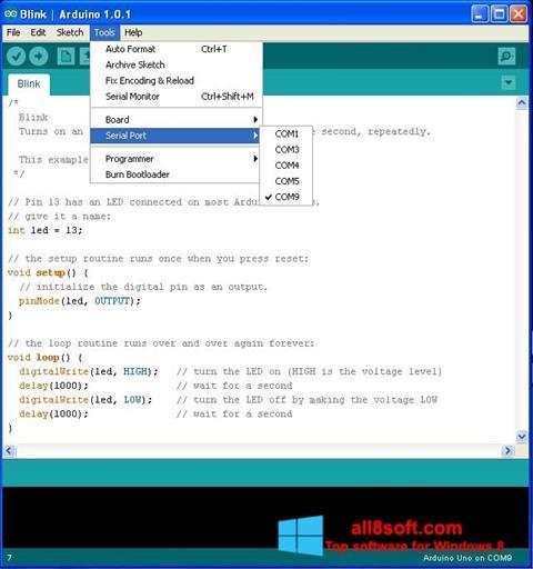 Снимка на екрана Arduino за Windows 8