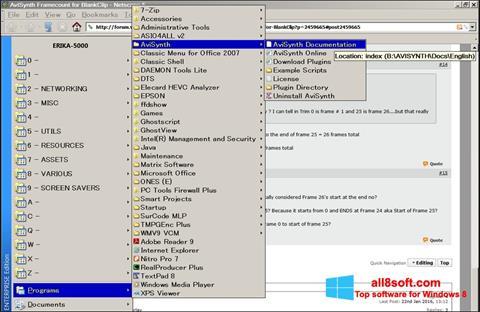 Снимка на екрана AviSynth за Windows 8