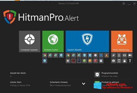 Снимка на екрана HitmanPro за Windows 8