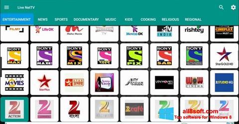 Снимка на екрана Net TV за Windows 8