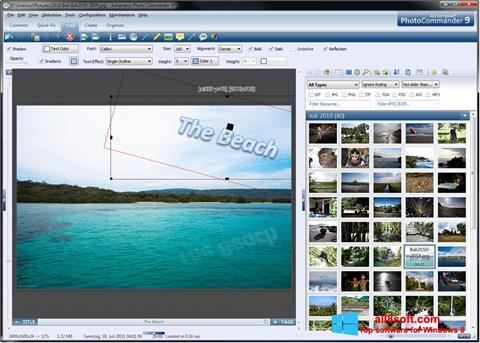 Снимка на екрана Ashampoo Photo Commander за Windows 8