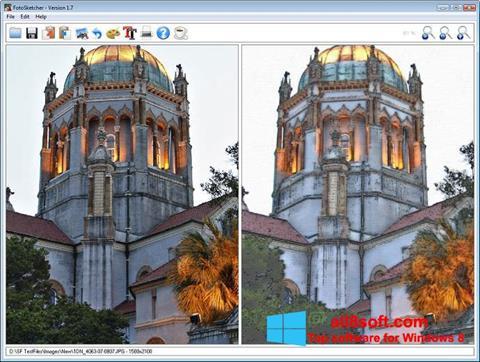 Снимка на екрана FotoSketcher за Windows 8