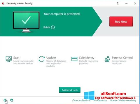 Снимка на екрана Kaspersky Internet Security за Windows 8
