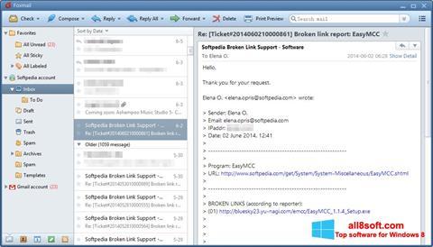 Снимка на екрана FoxMail за Windows 8