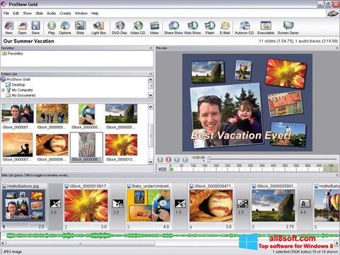 Снимка на екрана ProShow Gold за Windows 8