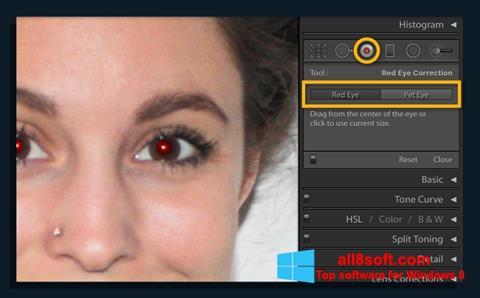 Снимка на екрана Red Eye Remover за Windows 8