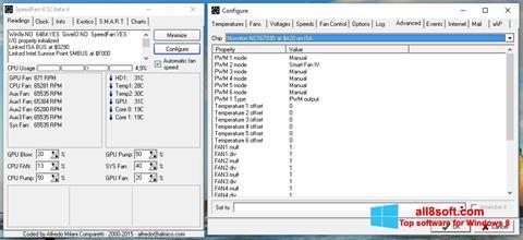 Снимка на екрана SpeedFan за Windows 8