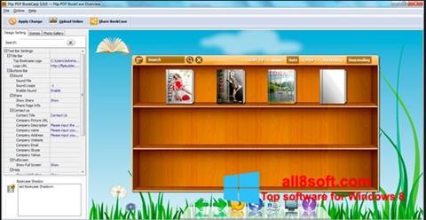 Снимка на екрана Bookshelf за Windows 8