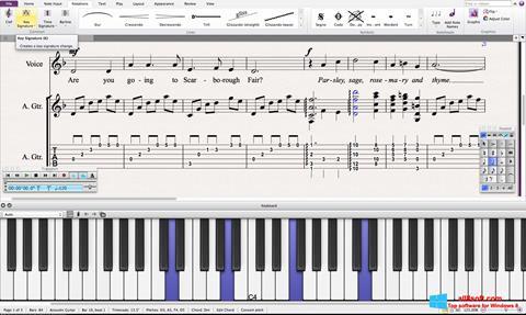 Снимка на екрана Sibelius за Windows 8