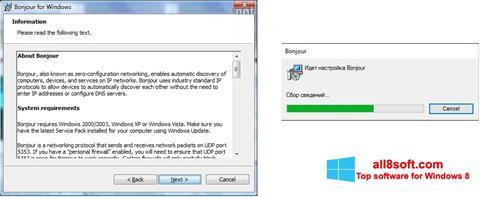 Снимка на екрана Bonjour за Windows 8