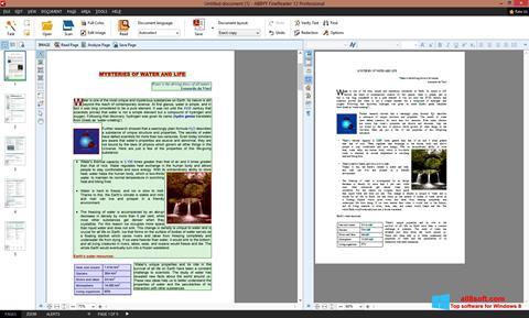 Снимка на екрана ABBYY FineReader за Windows 8