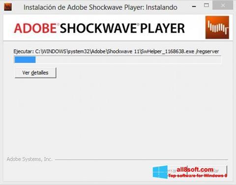 Снимка на екрана Adobe Shockwave Player за Windows 8