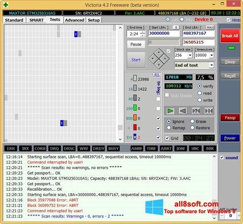 Снимка на екрана Victoria за Windows 8