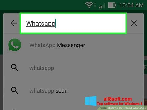 Снимка на екрана WhatsApp за Windows 8