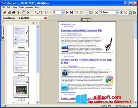 Снимка на екрана WinDjView за Windows 8