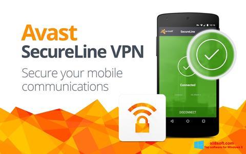 Снимка на екрана Avast SecureLine VPN за Windows 8