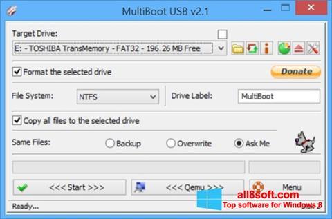 Снимка на екрана Multi Boot USB за Windows 8