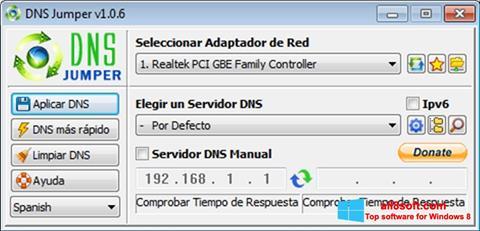 Снимка на екрана DNS Jumper за Windows 8