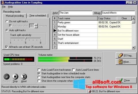 Снимка на екрана Audiograbber за Windows 8