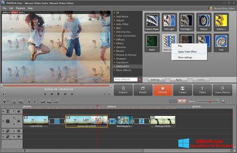 Снимка на екрана Movavi Video Suite за Windows 8