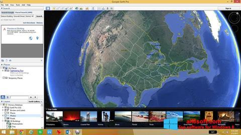 Снимка на екрана Google Earth за Windows 8