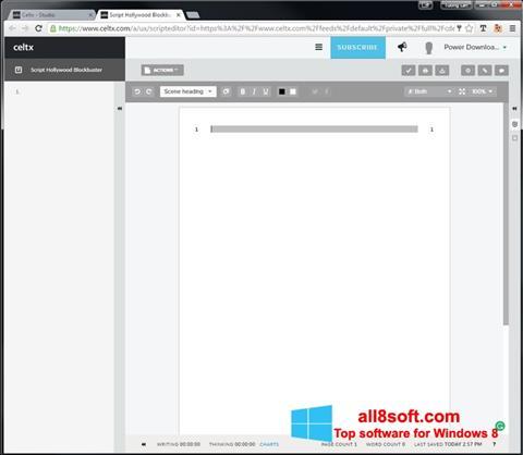 Снимка на екрана Celtx за Windows 8
