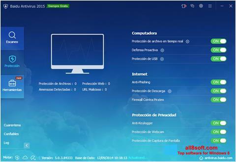 Снимка на екрана Baidu Antivirus за Windows 8