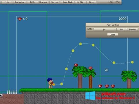 Снимка на екрана Game Editor за Windows 8