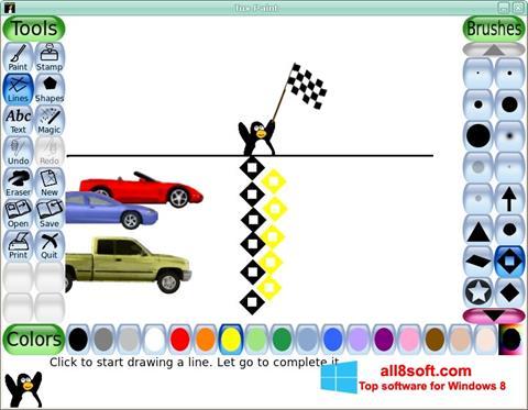 Снимка на екрана Tux Paint за Windows 8