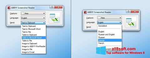 Снимка на екрана ABBYY Screenshot Reader за Windows 8
