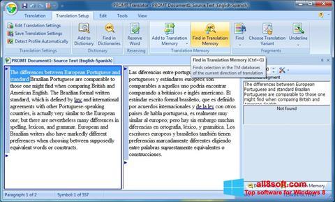 Снимка на екрана PROMT за Windows 8