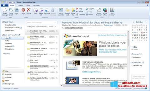 Снимка на екрана Windows Live Mail за Windows 8