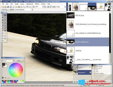 Снимка на екрана Paint.NET за Windows 8